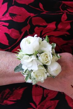 Beautiful white wrist corsage