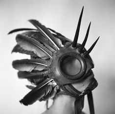 This is so cool! WWII leather/canvas gas mask hybrid mystical by theaccretion