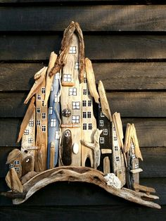 Driftwood town/houses. Designed by EVAS.