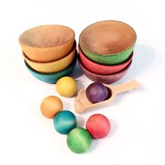 Items similar to Waldorf Montessori Wooden Ball and Bowl Sorting Set Educational Toy on Etsy Montessori Color, Educational Toys, Sorting, Wooden Toys, Handmade Gifts, Diy, Wooden Toy Plans, Kid Craft Gifts, Wood Toys