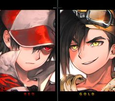 Their eyes match their names...I never noticed that (That unforgettable battle by kawacy on deviantART)