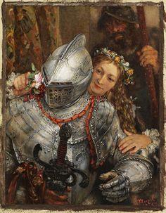 """""""Blindekuh"""" (1867) von Adolf von Menzel (geboren am 8. Dezember 1815 in Breslau, gestorben am 9. Februar 1905 in Berlin), deutscher Maler, Zeichner und Illustrator."""