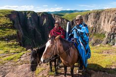 Semonkong's guides will take guests on overnight pony trails to remote villages to experience the culture of the mountain kingdom. #Lesotho #ponytrekking