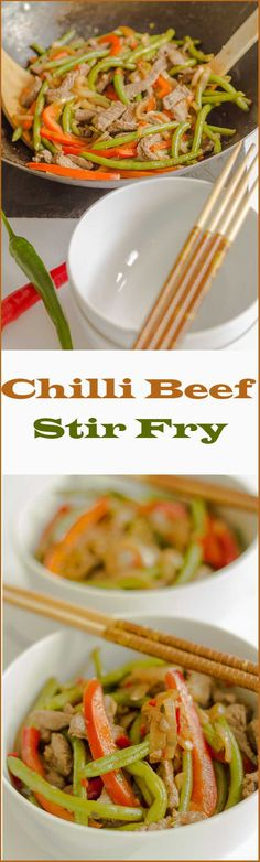 An easy, healthy and delicious steak stir fry recipe with capsicum (pepper) and green beans combined in a delicious sweet kaffir lime sauce.
