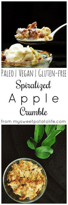 Spiralized apple crumble Paleo | Vegan | Gluten free | Dairy free | Grain free