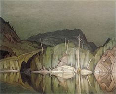 """A. J. Casson """"Stillness After Rain""""  (windypoplarsroom at Tumblr) Emily Carr, Tom Thomson, Canadian Painters, Canadian Artists, Landscape Art, Landscape Paintings, Group Of Seven Artists, Ontario, Nature Paintings"""