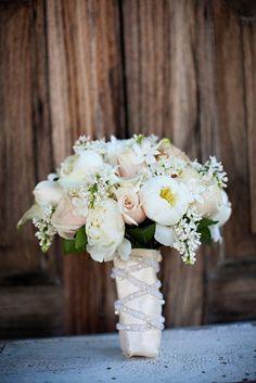 white bouquet rose and stephanotis | Bouquet – white lilac, sahara roses, white mini calla lily, white ...