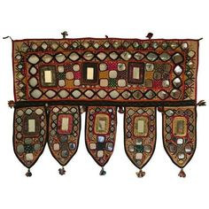 Indian Embroidered Mirror Valance ($195) ❤ liked on Polyvore featuring home, home decor, window treatments, curtains, valances, door curtains, window drapery, embroidered curtains, indian home decor and door window coverings #IndianHomeDecor