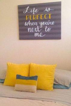 Gray yellow turquoise nursery bedroom art. Etsy by kristina