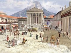 How the Forum of Pompeii might have looked back in the day. (Photo Credit: Ancient Rome)