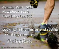 Looking in the mirror and seeing a distance runner: #Priceless !