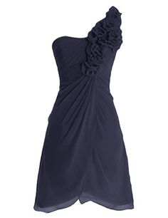 Diyouth One Shoulder Flowers Short Chiffon Bridesmaid Dress Dark Navy Size 8 Diyouth http://www.amazon.com/dp/B00LTYBH0I/ref=cm_sw_r_pi_dp_Kbi0tb194TMCRYJX