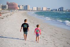 Kids on Clearwater Beach, wearing their Cooters shirts!