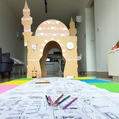 We are giving away a Masjid & our long Colour Challenge, which is a great Eid party game 🎨🎈 to TWO winners. Ramadan Activities, Ramadan Crafts, Activities For Kids, Aladdin, Cardboard Box Houses, Islamic Events, Transformers, Muslim Religion, Castles