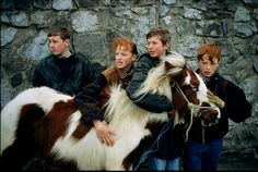 Picture of some children with their pony