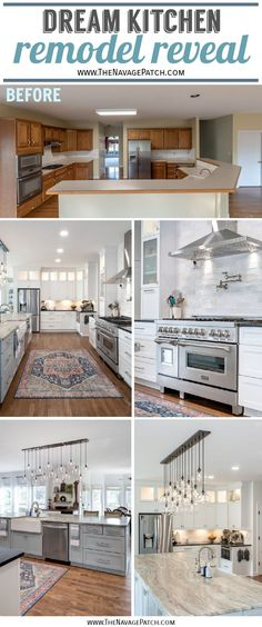 Kitchen Remodel Reveal | Kitchen reveal with source list | How to design a kitchen island | Best 48 inch professional range under $5000 | Kitchen remodel ideas | Long kitchen island ideas | How to save money during a kitchen remodel | 2 different countertops in a kitchen | Cle Zellige Tile | How to plan for a kitchen remodel | KraftMaid Cabinets | Zline 48 inch range | #TheNavagePatch #Kitchen #remodel #HowTo #Kitchenreveal #RoomMakeover #KitchenMakeover #FarmhouseKitchen… Kitchen With Long Island, Long Kitchen, New Kitchen, Kitchen Island, Kitchen Ideas, Pantry Design, Kitchen Design, Kraftmaid Cabinets, Fancy Kitchens