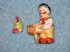RARE Vintage Shafford Organ Grinder and Monkey Salt and Pepper Shaker Set   eBay