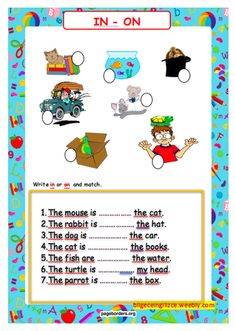 UNIT-8 (PETS) - Bilgeceingilizce English Worksheets For Kindergarten, 2nd Grade Worksheets, English Class, Learn English, Color Unit, Prepositions, Vocabulary, Classroom, The Unit