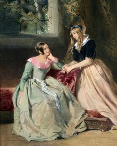 William Powell Frith (1819-1909) - Two elegant young ladies in conversation