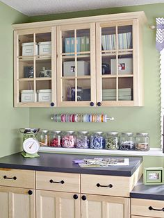 Love the idea of a wrapping station similar to this in my future craft room or even laundry/multipurpose area.