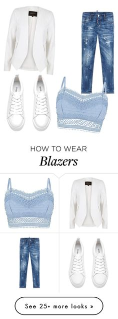 """Untitled #168"" by dunjoo1 on Polyvore featuring River Island, Dsquared2 and Lipsy"