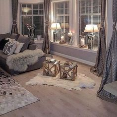 Lamps for Living Room Table top . Lamps for Living Room Table top . Light and Contemporary Interior Design for the Living Room Cozy Living Rooms, Living Room Grey, Apartment Living, Cozy Apartment, Curtain For Living Room, Living Room Decor Colors Grey, Glamour Living Room, Silver Living Room, Grey Wall Decor