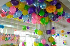 Helium Balloons for the Candyland decoration by @fantasyparty