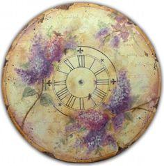 Olde World Liliac Clock-Pattern Packet Vintage Labels, Vintage Cards, Vintage Images, Vintage Clocks, Diy Clock, Clock Decor, Clock Art, Vintage Prints, Vintage Posters