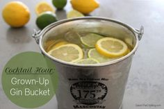 Grown-Up Gin Bucket: Delicious citrus summer punch.
