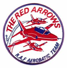 The Red Arrows R.A.F. Aerobatic Team Patch