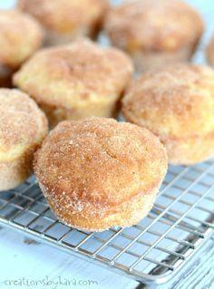 Cinnamon Sugar Donut Muffins (French Breakfast Puffs) Recipe on Yummly. Cinnamon Sugar Muffins, Cinnamon Sugar Donuts, Muffin Recipes, Baking Recipes, Dessert Recipes, Fall Desserts, Easy Recipes, Moist Banana Muffins, Donut Muffins