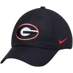 Georgia Bulldogs Nike Heritage 86 Authentic Adjustable Performance Hat - Black