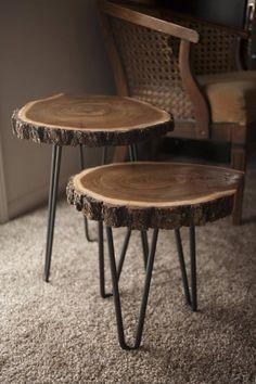 Wood Resin Table, Wood Slab Table, Wood Table Design, Wood Tables, Rustic Furniture, Diy Furniture, Rustic Coffee Tables, Wood Slices, Diy Wood Projects