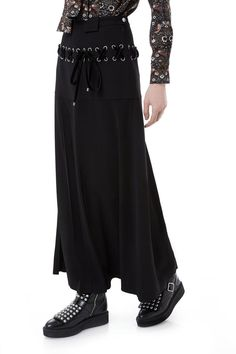 Marc by Marc Jacobs Charlie Double Face Crepe Long Seamed Skirt