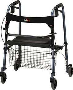 NOVA Medical Product Cruiser DeLight Rolling Walker Blue <3 Click the image to view the details