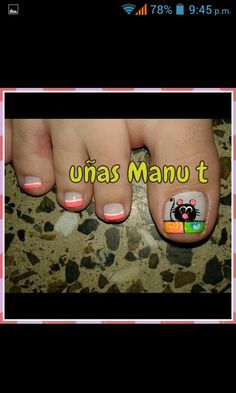 Uñas manu t Fancy Nail Art, Fancy Nails, Toe Nail Art, Acrylic Nails, Cat Nails, Creative Nails, Pedicure, Nail Art Designs, Hair Beauty