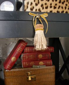 make tassels from champagne corks and old book pages. Decor Crafts, Diy Home Decor, Diy Crafts, Stenciled Pillows, How To Make Tassels, Champagne Corks, Old Book Pages, Stencil Diy, Crafts To Make