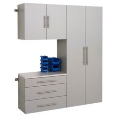 Tidy up your garage or potting shed with this convenient wall-mount cabinet, perfect for organizing tools or outdoor accessories.   P...