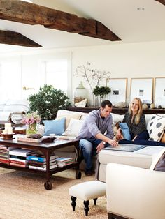 Meet a New England couple who have nothing to hide (literally). Here's how they keep their new home clutter-free.