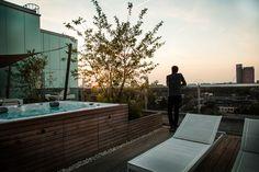 Ontwerp dakterras bij penthouse | Rooftop terrace design penthouse #jacuzzi