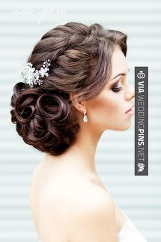 373 you looking everywhere for that perfect wedding updo for your big day? Well, look no more! Here are the most gorgeous wedding hairstyles from around the web. Vintage, classic, contemporary, bohemian… I have it all! Wedding Hairstyles For Long Hair, Fancy Hairstyles, Wedding Hair And Makeup, Bride Hairstyles, Hair Makeup, Hairstyle Images, Hairstyle Ideas, Hair Wedding, Hairstyle Wedding