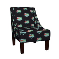Venda Sloped Arm Chair featuring Explosion of love by chausse_shop | Roostery Home Decor