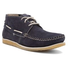 Clarks Originals Men's Leather Casual Boots Crepe Sole Craft Sail 63685 Navy