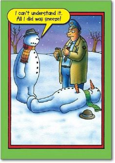 This hilarious funny snowman Christmas card features an edgy joke with clean humor perfect for family members, office parties and more. Snowman Cartoon, Funny Snowman, Snowman Quotes, Haha Funny, Funny Jokes, Hilarious, Funny Stuff, Funny Christmas Pictures, Funny Pictures