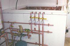 solar heat storage tank showing liner