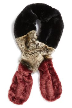 Colorblock Faux Fur Stole