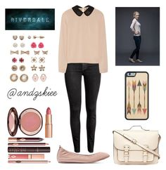 """""""Betty Cooper-inspired"""" by andzskiee ❤ liked on Polyvore featuring H&M, N°21, Lanvin, Dorothy Perkins, SO and Charlotte Tilbury"""