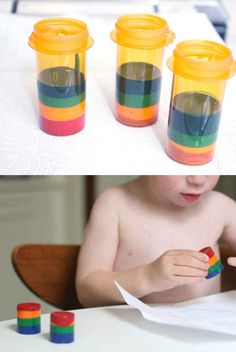 Melt down broken crayons in a film canister or prescription bottle to make new, giant, awesome crayons. | 35 Money-Saving DIYs For Teachers On A Budget