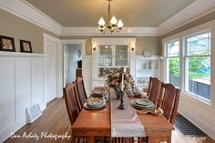trendy home design ideas craftsman dining rooms Craftsman Dining Room, Craftsman Cottage, Craftsman Interior, Craftsman Style Homes, Home Interior Design, Craftsman Bungalows, Dining Room Paint, Dining Room Table Decor, Dining Room Furniture