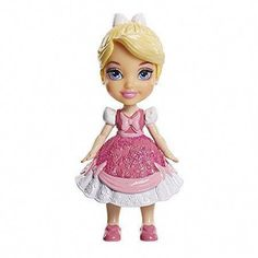 My First Disney Princess Mini Toddler Cinderella Pink Dress Poseable Doll. Stands on her own and has 5 points of articulation. Wearing her mother's pink dress. Cinderella Pink Dress, Cinderella Doll, Disney Princess Quotes, Disney Princess Cinderella, Reborn Dolls Silicone, Aurora Disney, Walt Disney, Princess Coloring, Lol Dolls